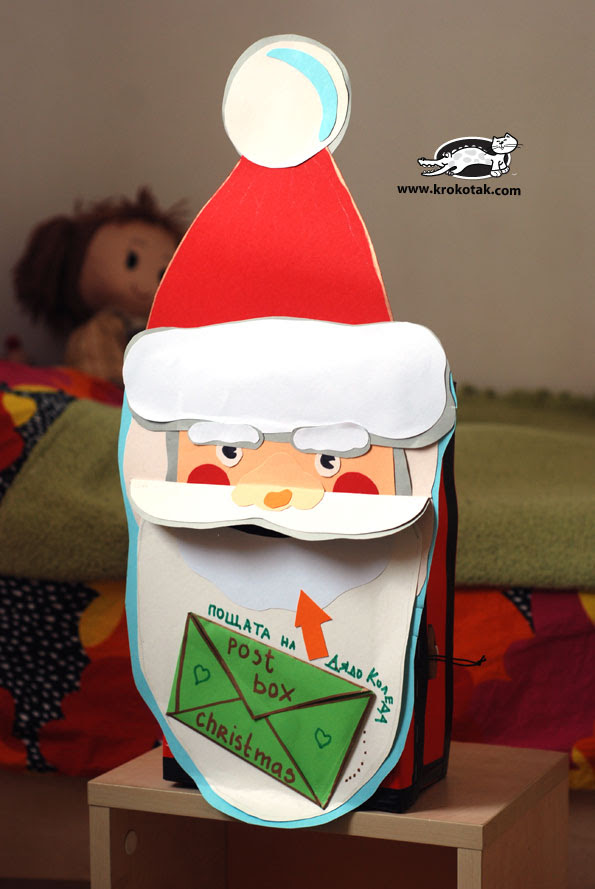 DIY kerst Postbox - Kerstman