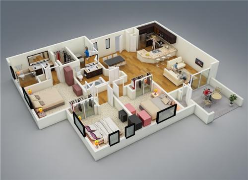 96 Gambar Desain Rumah 3 Kamar Dan Dapur Gratis Terbaik Unduh