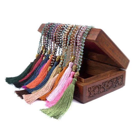Shinus Boho Maxi Statement Necklace Tassel