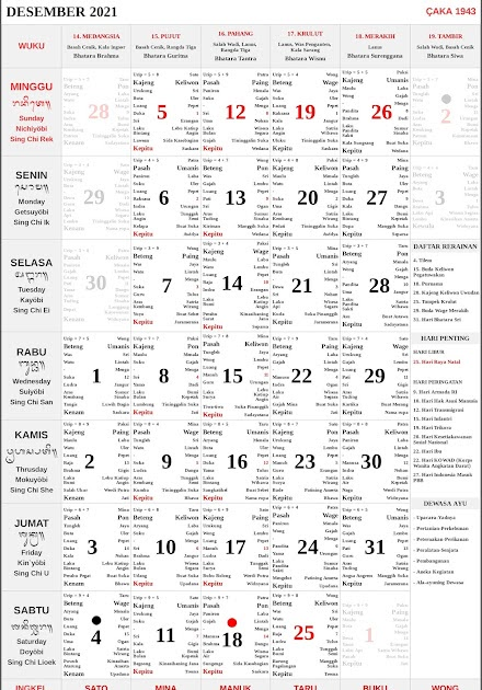 Kalender Hindu Bali Pdf - Tahun 2021 Kalender Bali ...