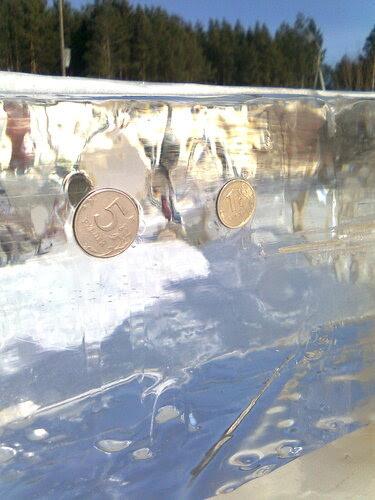 Монетки во льду