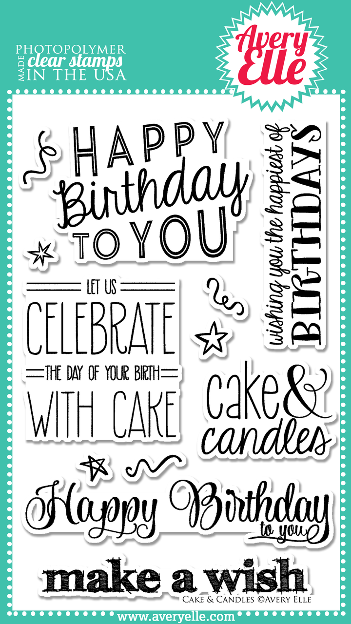 Cake & Candles clear stamp set