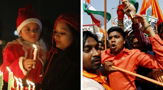 Hindus Attack Christians Celebrating Christmas