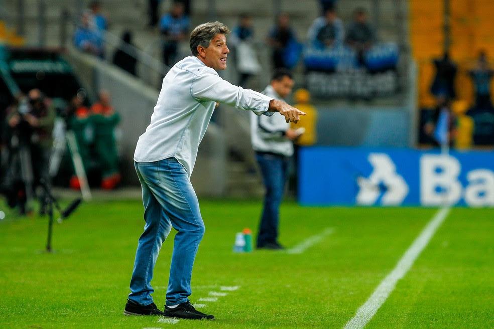 Renato gostou da postura do Grêmio na vitória sobre o Botafogo por 2 a 0 (Foto: Lucas Uebel/Divulgação Grêmio)