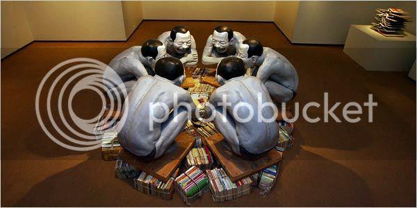 joueurs de cartes Yue Minjun