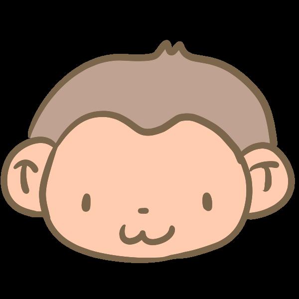 猿の顔のイラスト かわいいフリー素材が無料のイラストレイン