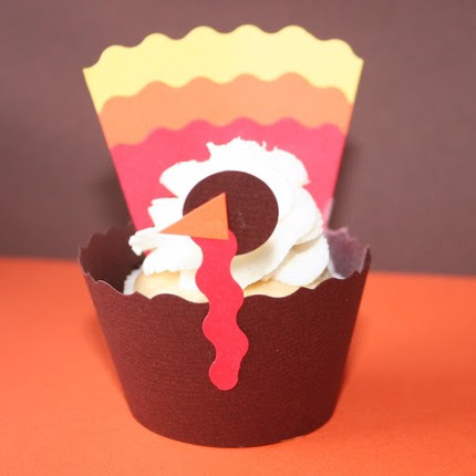 Thanksgiving cupcake liner from Etsy