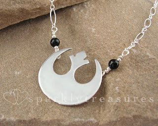 Nicola Ryan Silver Star Wars Necklace