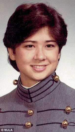 Susan Shannon (pictured, as a cadet) alleges that she was sexually assaulted by Army Colonel Wil Riggins in 1986 while they were both cadets at West Point