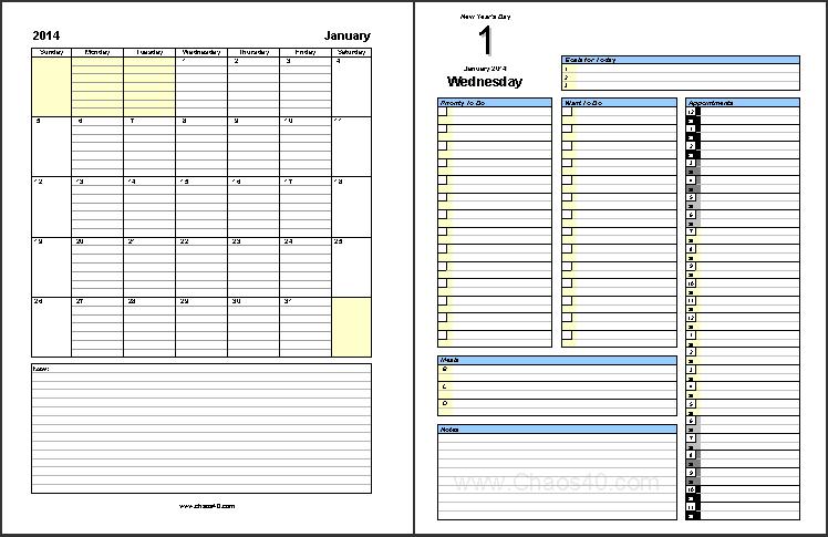 Daily Planner Calendar Calendar June