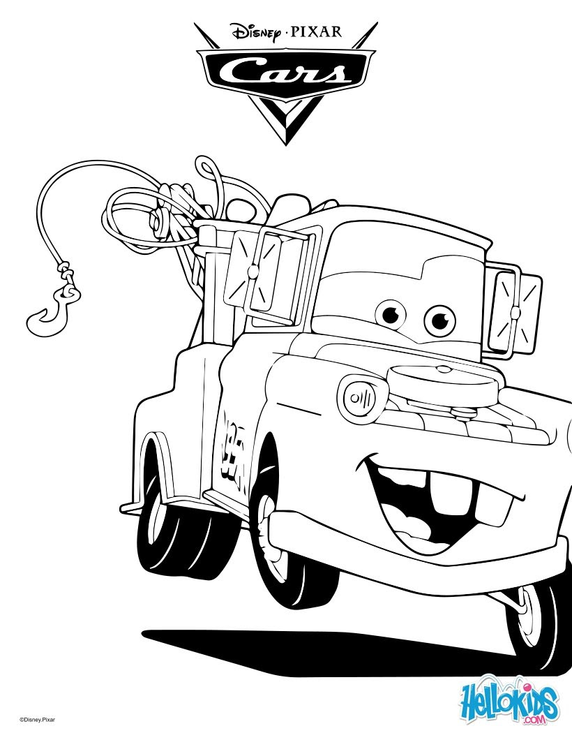 Mater the tow truck coloring pages Hellokids.com