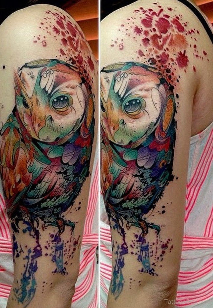 Watercolor Owl Tattoo At Getdrawingscom Free For Personal Use