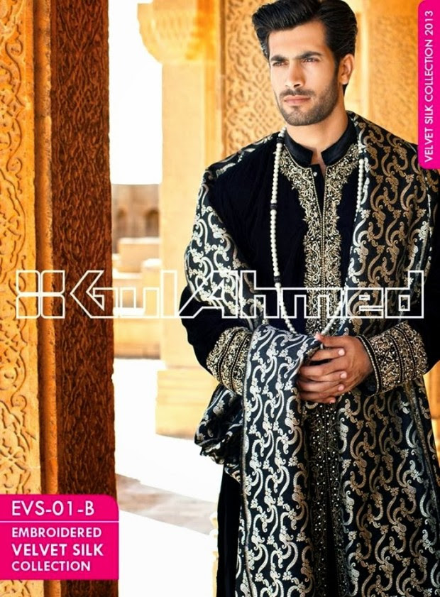 Mens-Women-Wear-Beautiful-Embroidered-Silk-Velvet-Long-Coats-by-Gul-Ahmed-New-Fashion-14