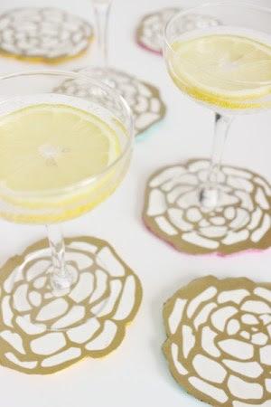 DIY Floral Coasters OSBP 6 DIY Tutorial: Floral Cocktail Party Coasters