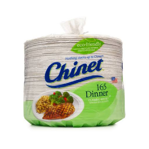 """Chinet Paper Dinner Plates, 10-3/8"""" - 165 count"""