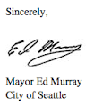 """""""Protected bicycle lanes are a crucial component of our transportation infrastructure."""" - Mayor Ed Murray..."""