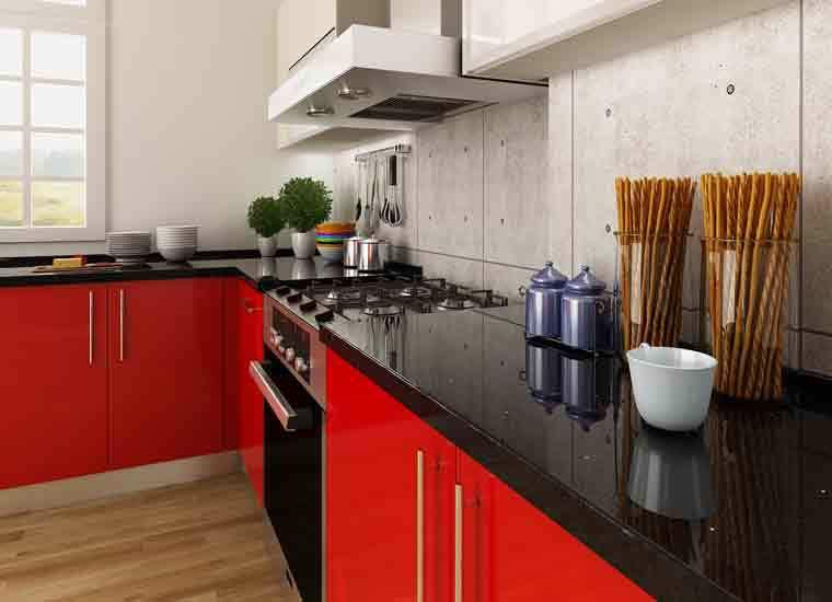 Kenya Project Modern Design Round Laminate Kitchen