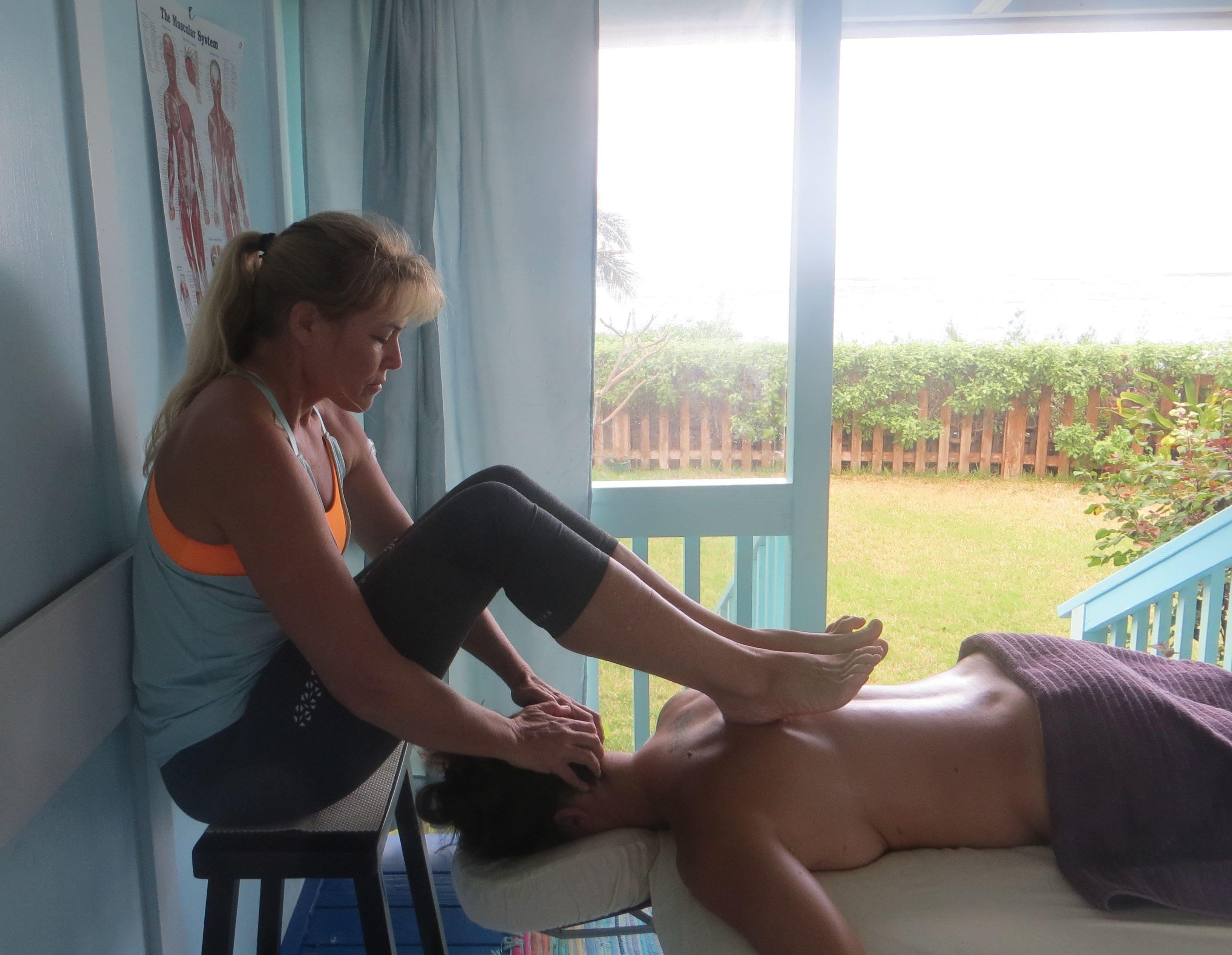 Massage continuing education Hawaii, photos Ashiatsu ...