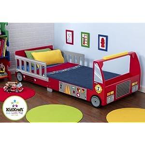 KidKraft 76031 - Kleinkind Feuerwehrbett