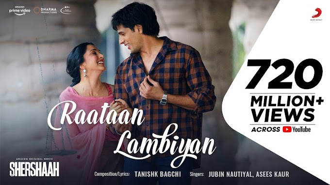 Raataan Lambiyan | Shershaah | Sidharth – Kiara | Tanishk B| Jubin Nautiyal |Asees - Jubin Nautiyal & Asees Kaur Lyrics in hindi