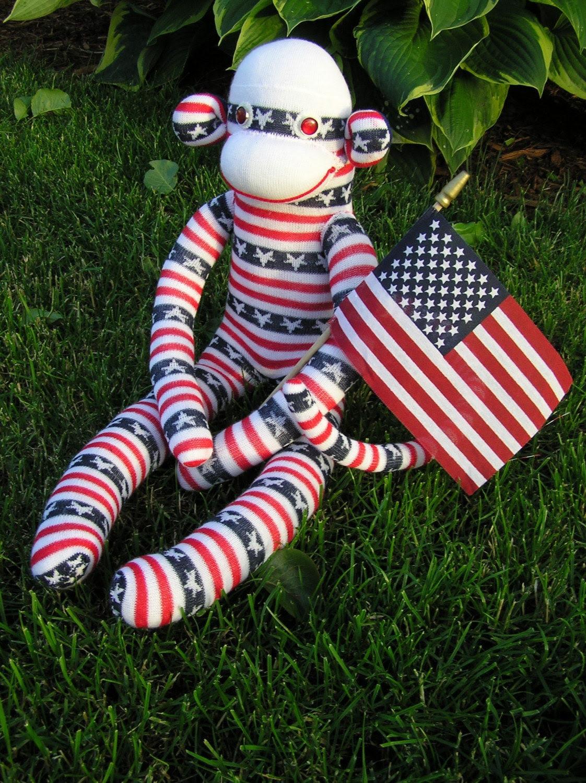 Patriotic Sock Monkey