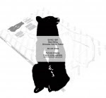 Bear Sitting Silhouette Yard Art Woodworking Pattern - fee plans from WoodworkersWorkshop® Online Store - bears,animals,wildlife,yard art,painting wood crafts,scrollsawing patterns,drawings,plywood,plywoodworking plans,woodworkers projects,workshop blueprints