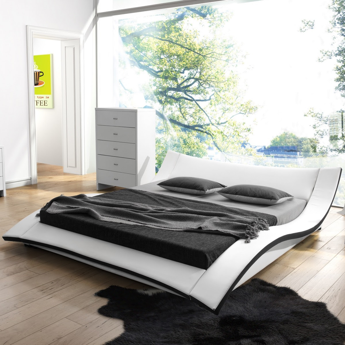 unique king size bed frames