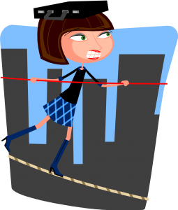 balancing on a tightrope
