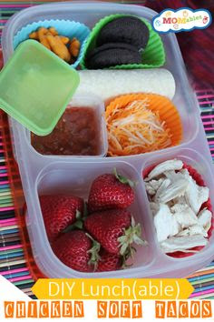 DIY-Lunch(able): Chicken Soft Tacos - Hungry?  Starts Today: WIN a FREE 3 month subscription to Momables - the Healthy, Inexpensive and FUN Lunch Menu that Kids Love & Parents Crave! 9/10/13, US