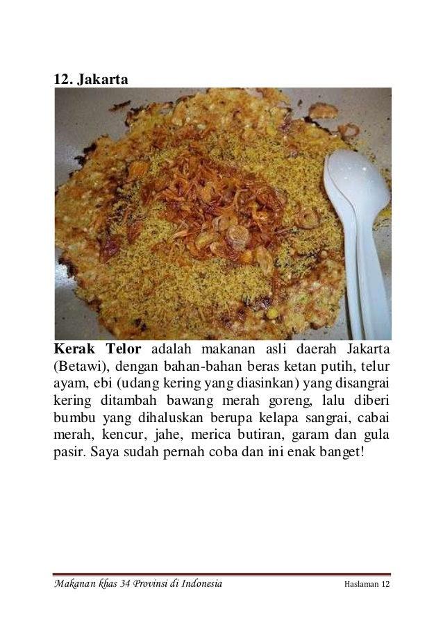 Makanan Khas Daerah Di Indonesia Beserta Gambarnya