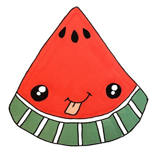 Draw A Kawaii Watermelon In 6 Simple Steps Learn To Draw