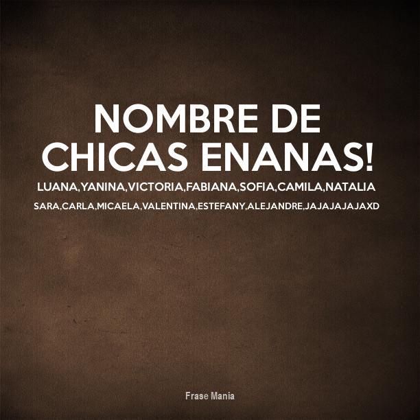 Cartel Para Nombre De Chicas Enanas Luana Yanina Victoria Fabiana