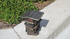 Bronze exterior book sculptures by Suikang Zhao