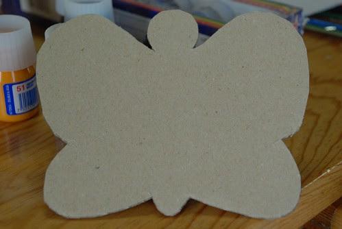 butterfly puppet cardboard base