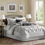 Madison Park Laurel 7-pc. Comforter Set - Queen - Grey