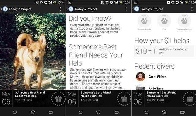 Google One Today : trois premières captures