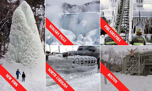 The dramatic images of America's record-breaking deep freeze