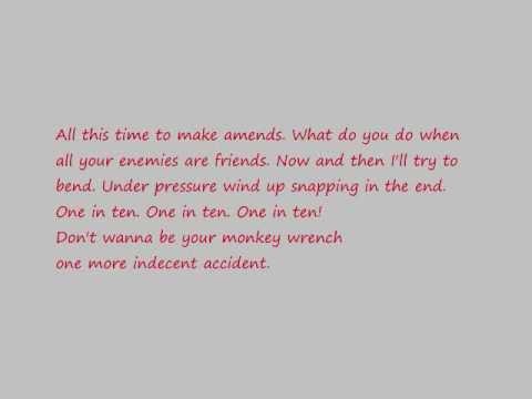 Foo Fighters Monkey Wrench Lyrics
