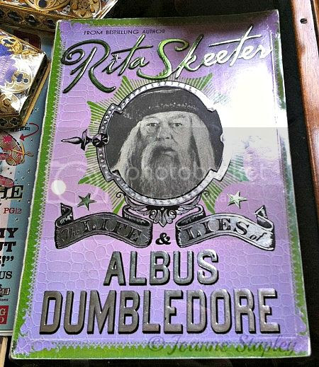 Props from the movies: The Life and Lies of Albus Dumbledore by Rita Skeeter - The House of MinaLima