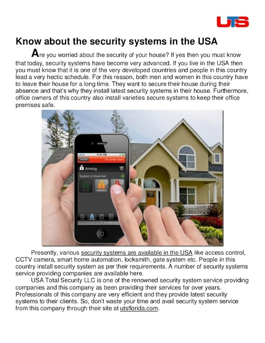 Know about the security systems in the usa