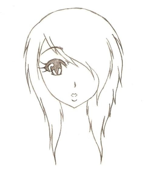 anime emo girl easy emo anime drawings pictures anime