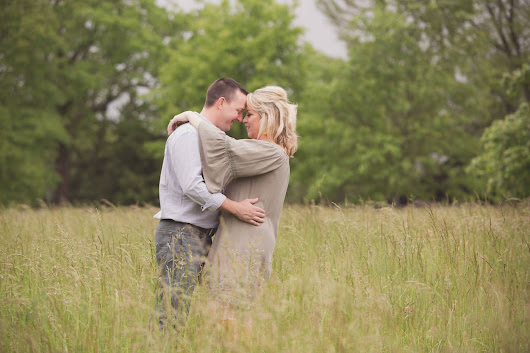 Becky+Tyler's Engagement Session on their family farm in Lexington, KY