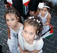 Garotinhas palestinas