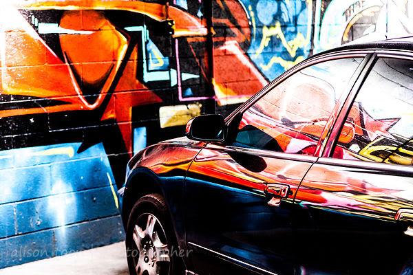 Street art and car