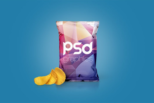 Chips Foil Bag Packaging Mockup Free PSD | PSD Graphics
