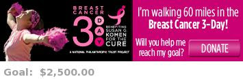 Help me reach my goal for the San Diego Breast Cancer 3-Day!