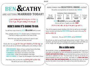 downloadable wedding program template