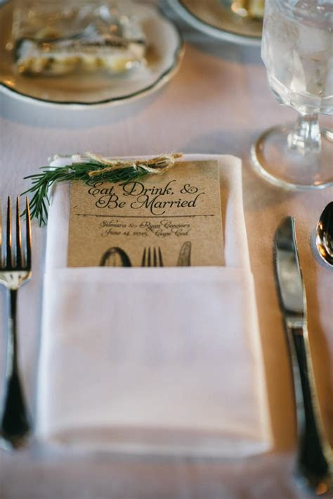 Rustic Wedding Reception Menu ~ Outdoor, Country Wedding