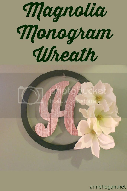 Magnolia Monogram Wreath - Anne Hogan