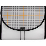 C-Line Fashion Series - Expanding file - 13 compartments - 12 parts - Letter - for 400 sheets - tabbed - plaid